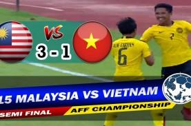 Semifinal AFF U15: Malaysia Hajar Vietnam 3-1, ke…