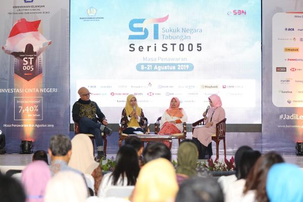 Suasana diskusi pembukaan masa penawaran Sukuk Tabungan ST005 pada Kamis (8/8/2019). - DJPPR Kementerian Keuangan