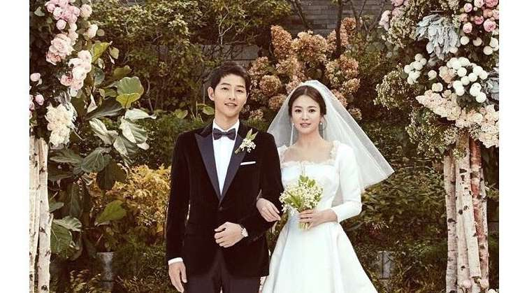 Foto pernikahan Pasangan SongSong.  -  Instagram Song Hye Kyo