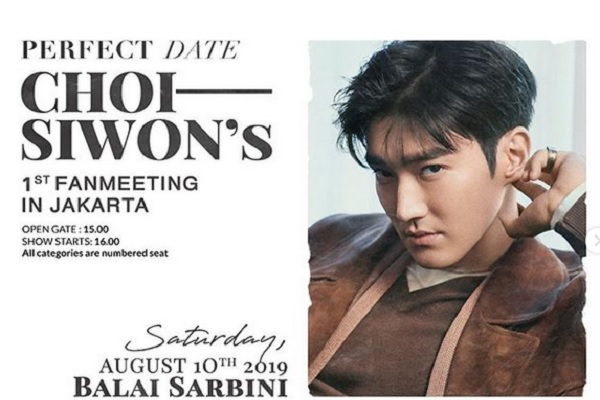Poster Fanmeeting Choi Siwon - Instagram @gudlive.id