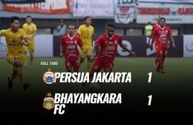 Persija vs Bhayangkara Skor Akhir 1-1, Persija Masih Terpuruk di Zona Degradasi