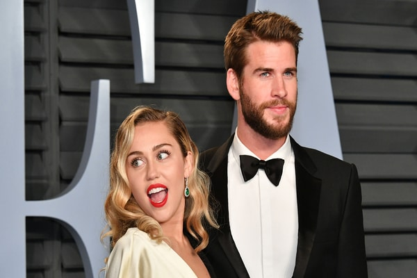 Miley Cyrus dan Liam Hemsworth - Newshub.co.nz