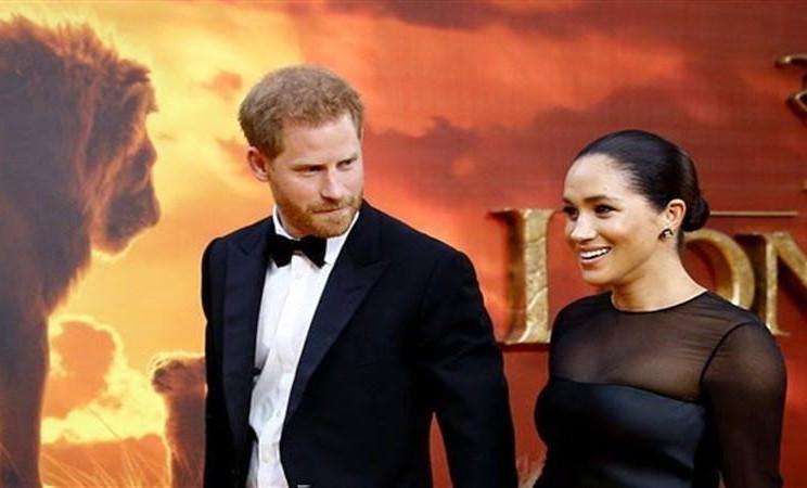 Meghan Markle bersama suaminya, Pangeran Harry, di acara gala premiere film terbaru karya Walt Disney Studio, The Lion King. - Istimewa