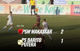 Liga 1: PSM vs Barito Putera Hasil Akhie 2-1. Ini Videonya