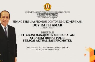 Boy Rafli Amar Raih Gelar Doktor Ilmu Komunikasi, Kapolri Tito Karnavian Turut Menguji
