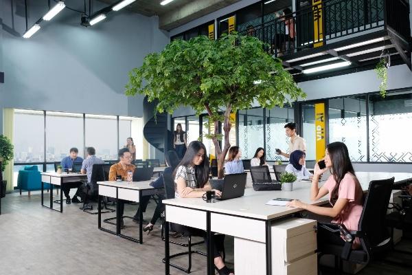 Salah satu coworking space di Kuningan, Jakarta Selatan. - Reuters