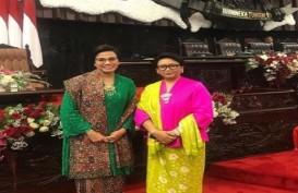 Menteri Sri Mulyani dan Retno Marsudi Pakai Kebaya, Warganet Lontarkan Pujian