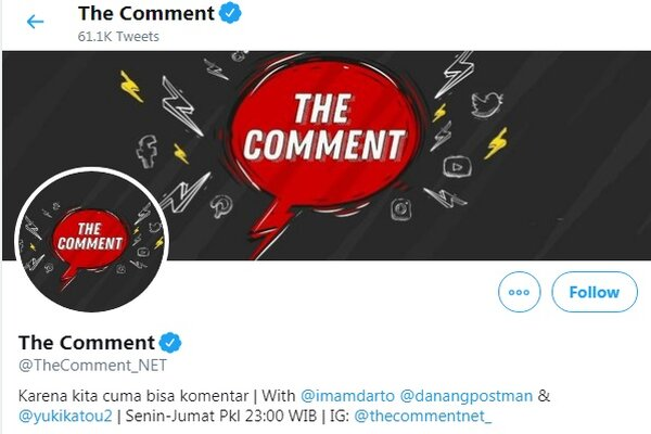 Akun Twitter The Commet - Twitter - TheComment_NET