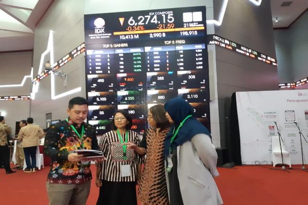 Manajemen PT Semen Indonesia (Persero) Tbk. saat melakukan paparan publik di Bursa Efek Indonesia, Rabu (21/8/2019). - Bisnis/Muhammad Ridwan