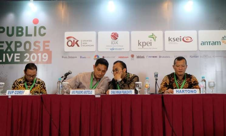 Antam melakukan paparan publik perusahaan di Bursa Efek Indonesia pada Selasa (21/8/2019). - Istimewa
