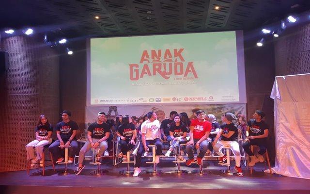 Konferensi pers film Anak Garuda di Jakarta, Kamis (22/8/2019) - Bisnis/Syaiful M