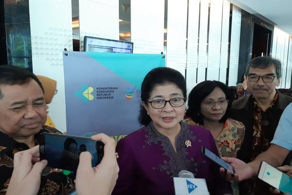 Menteri Kesehatan Nila F. Moeloek di JS Luwansa pada Kamis (22/8/2019) - Bisnis/Ria Theresia Situmorang