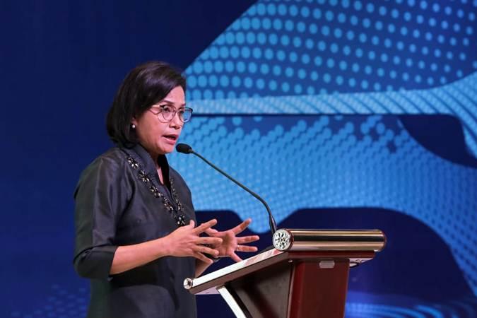 Menteri Keuangan Sri Mulyani menjadi keynote speaker dalam The 14th Gaikindo International Automotive Conference di ICE BSD, Tangerang, Banten, Rabu (24/7/2019). - Bisnis/Felix Jody Kinarwan