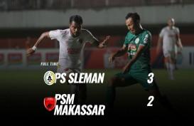PSS Sleman Tekuk PSM Makassar 3-2, Naik ke Posisi 4. Ini videonya