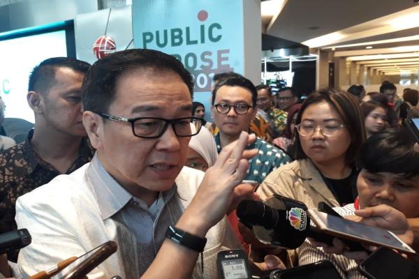 Direktur Utama Astra International Prijono Sugiarto setelah menggelar paparan publik di BEI, Senin (26/8/2019). - Bisnis/Muhammad Ridwan