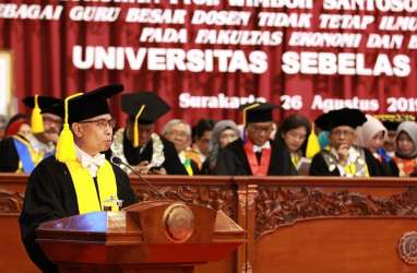 Wimboh Santoso Dikukuhkan Sebagai Guru Besar UNS Surakarta