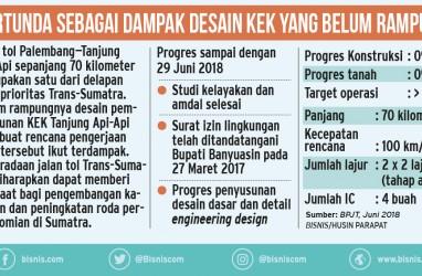 Hutama Karya Belum Tahu Rencana Pemindahan Jalur Tol Palembang—Tanjung Api-Api