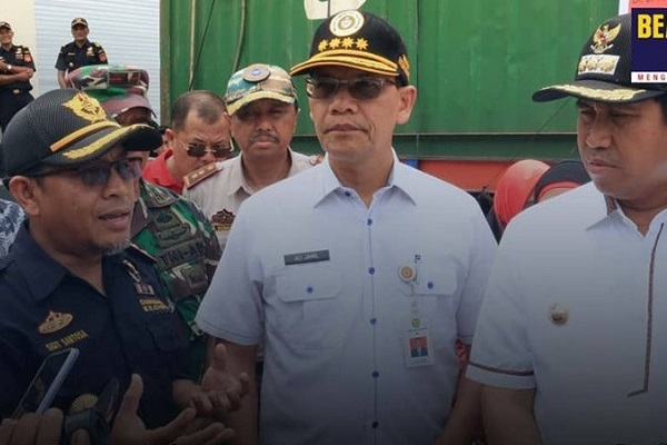 Bea Cukai Luwuk Mendukung Ekspor Perdana 50 Ton Tepung Kelapa Kering PT. SASL and SONS