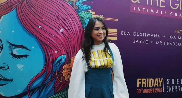 Andrea Putri Turk seusai menggelar konferensi pers diSoehanna Hall, Jakarta, Jumat (30/8/2019). - Bisnis/Dionisio Damara