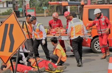 Simulasi Tanggap Darurat Kejadian Luar biasa Digelar di Tol Tangerang-Merak