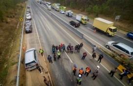 Kecelakaan Maut Tol Cipularang, Polisi Lakukan Olah TKP