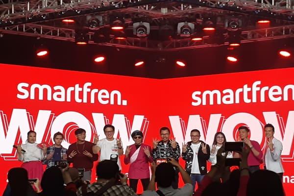 Press Conference acara konser Smartfren bersama penyanyi dan influencer di kawasan Darmawangsa, Jakarta Selatan pada Selasa (3/9/2019) - Bisnis.com - Ria Theresia Situmorang
