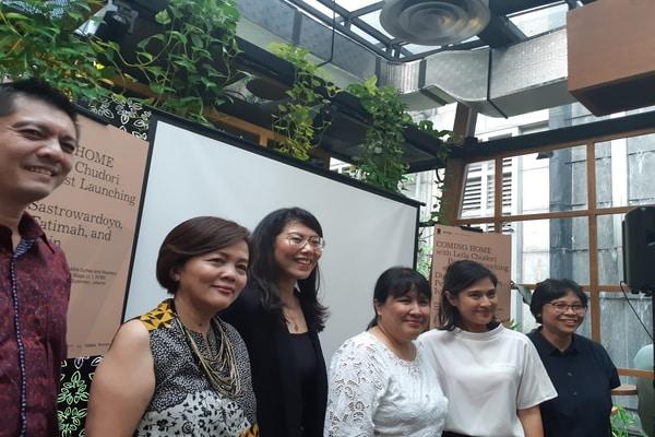 Press Conference Launching Podcast Coming Home with Leila Chubori di Kawasan SCBD, Jakarta Selatan pada Rabu (4/9/2019) - Bisnis.com - Ria Theresia Situmorang