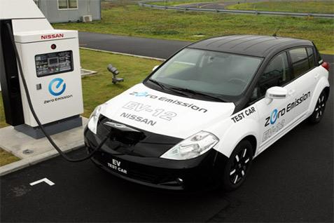 Ilustrasi pengisian daya listrik - Nissan