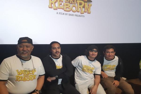 Pemeran film Warkop DKI Reborn di Senayan City XXI, Jakarta Selatan pada Kamis (5/9/2019) - Bisnis.com - Ria Theresia Situmorang