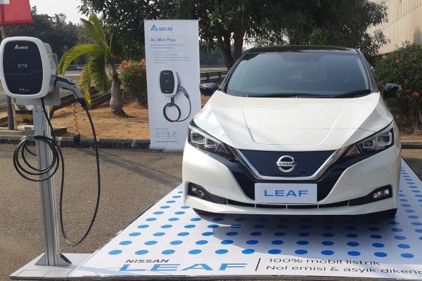 Mobil listrik, Nissan Leaf. - Bisnis/Aprianus Doni Tolok