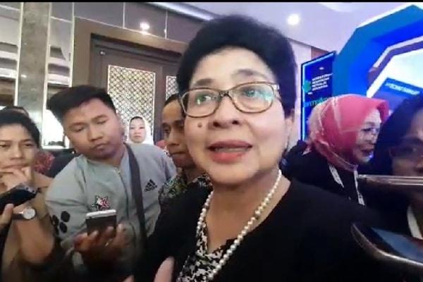 Menteri Kesehatan Nila F. Moeloek di The Sultan Hotel pada Selasa (10/9/2019) - Bisnis.com - Ria Theresia Situmorang