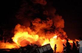 50 Rumah di Permukiman Badui Hangus Terbakar