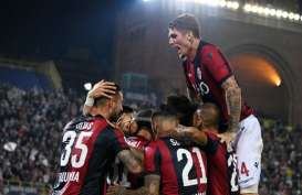 Hasil Liga Italia : Bologna, Cagliari Menang Tandang. Lazio Tumbang