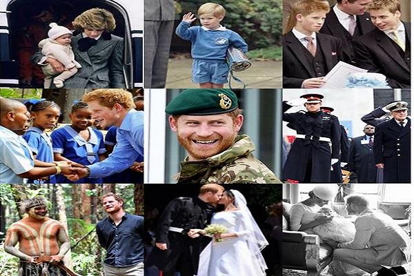 Kolase foto Pangeran Harry - Instagram @sussexroyal