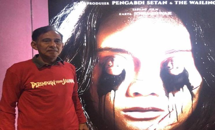 Arswendi Bening Swara kembali bermain dalam film terbaru Joko Anwar berjudul Perempuan Tanah Jahanam. Film yang akan rilis pada 17 Oktober mendatang baru saja meluncurkan trailer dan poster film pada Senin (16/9/2019), di Jakarta. JIBI/Bisnis - Dionisio Damara