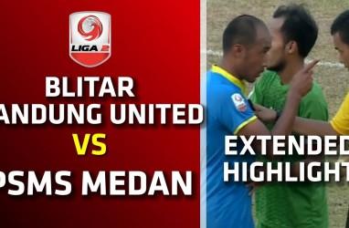 Blitar Bandung United vs PSMS 1-1, PSMS ke Posisi 4. Live Sekarang