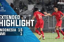 AFC U-16: Indonesia Hajar Mariana Utara 15-1, Puncaki Grup G. Ini videonya