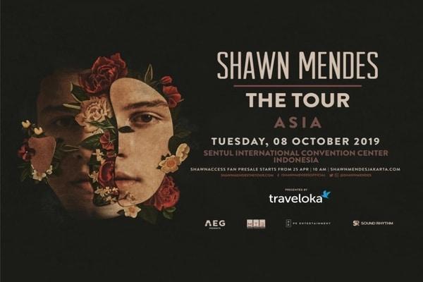 Cover poster Shawn Mendes: The Tour 2019 Asia / Dok. Traveloka