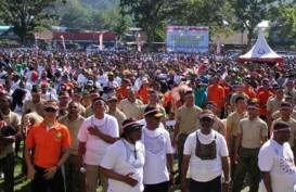 PAPUA TERKINI : Dewan Adat Papua Unjuk Rasa Damai di Manokwari, Pagi Ini Situasi Kondusif