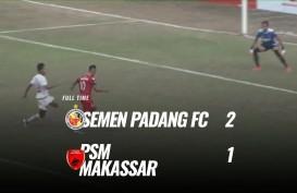 Semen Padang Tekuk PSM Makassar 2-1, tapi Masih di Zona Degradasi. Ini Videonya