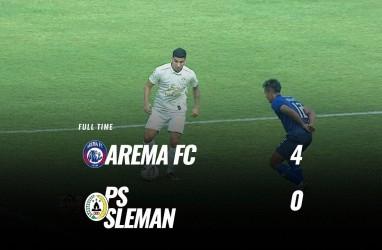 Arema FC Tekuk PSS Sleman 4-0 Melejit ke Posisi 4. Ini Videonya