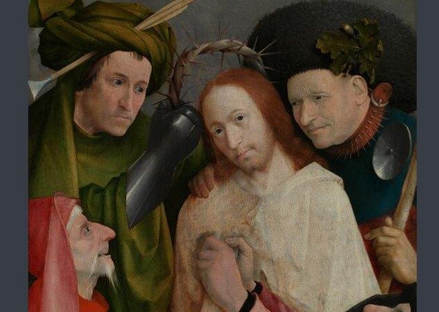 Lukisan Christ Mocked karya seniman Cimabue. - nationalgallery.org.uk