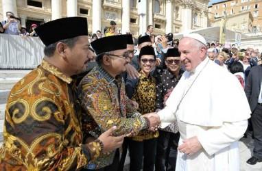 Pimpinan Pusat GP Ansor Bertemu Paus Fransiskus di Vatikan