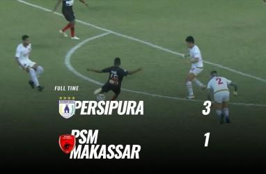 Persipura Tekuk PSM Makassar 3-1, Melejit ke Posisi 6. Ini Videonya