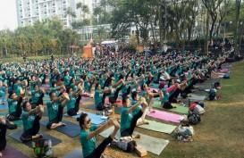 Yoga di Taman, Ratusan Peserta Rasakan Manfaat Nyata