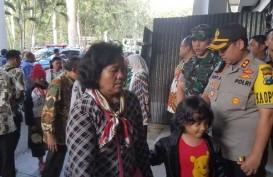 Pengungsi asal Wamena tiba di Malang