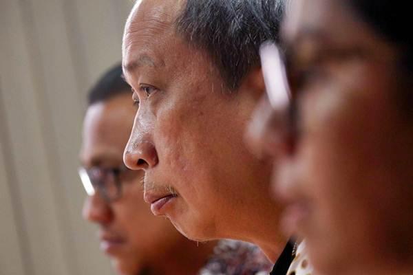 VP Marketing Development PT Agung Podomoro Land Tbk Rawisyah Aditya saat mengunjungi kantor redaksi Bisnis Indonesia di Jakarta, Rabu (18/7/2018). - JIBI/Nurul Hidayat