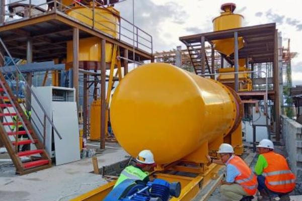 Fasilitas produksi emas PT Bumi Resources Minerals Tbk. di Poboya, Sulawesi Tengah. - istimewa