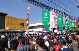 Ratusan Supir Go Car Geruduk Kantor Gojek Palembang