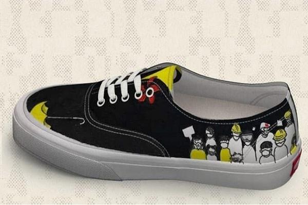 Desain sepatu Vans yang membuat warga Hong Kong berang. - Istimewa